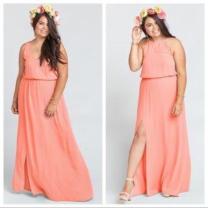 Show Me Your MuMu Kendall Maxi Coral Dress XL EUC